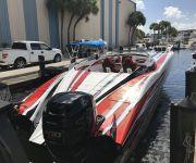 TNT Sea Trials New 340X MTI Twin Mercury 400 Outboard Cat