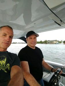 Johnny Tomlinson from TNT Custom Marine Meets John Travolta