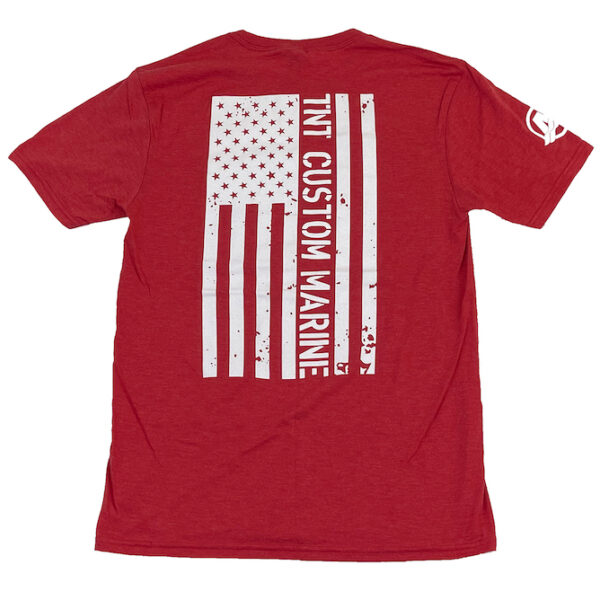 American Flag T-Shirt (red back)