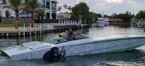 KONG Custom Rigged Skater Powerboat Tested